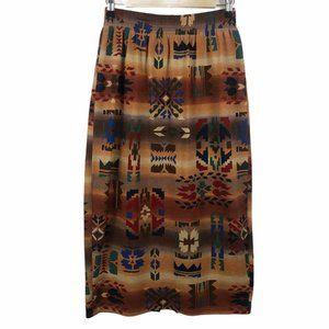 Koolers Vintage Southwestern Pull On Midi Skirt